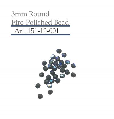 3mm Round Fire-Polished Bead