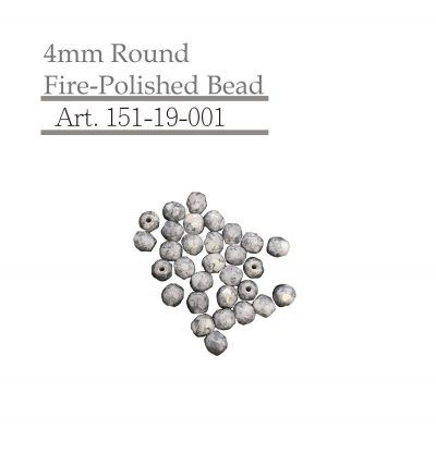 4mm Round Fire-Polished Bead