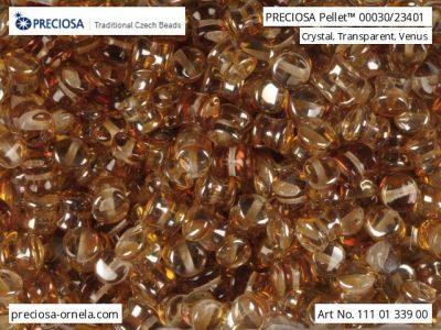 捷克玻璃珠Pellet 00030/23401