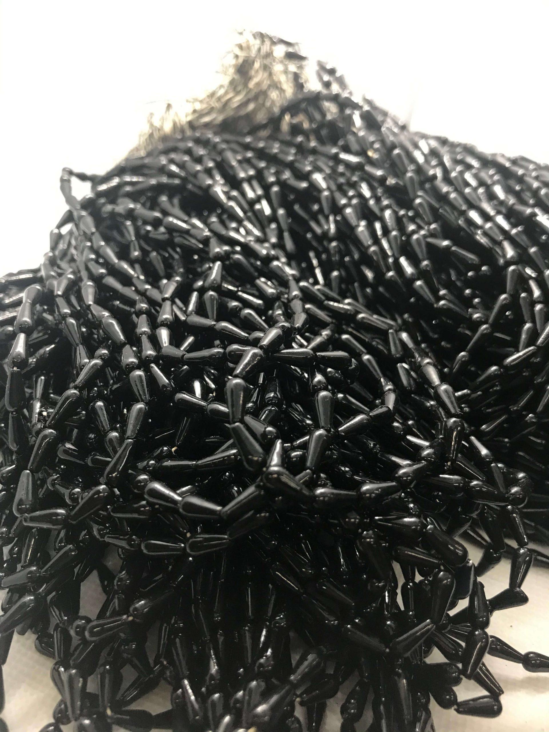 4x8mm黑色吊膽珠