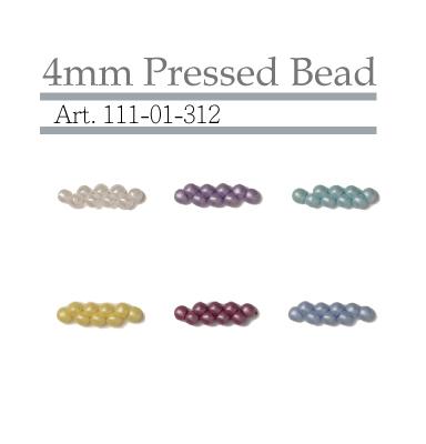 4mm Pressed Bead